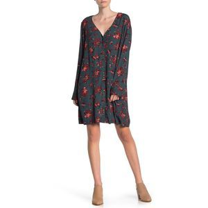 Madewell Sz M Floral Button Front Easy Dress